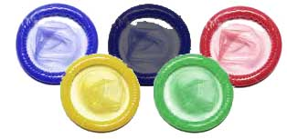 I wasn't aware there was an official Olympics 2012 condom supplier. So in recognition of there upstanding support, keeping all competitors covered, no matter how impregnable the competition and ensuring only the best come first I have design an official logo for them. Well done Durex...
